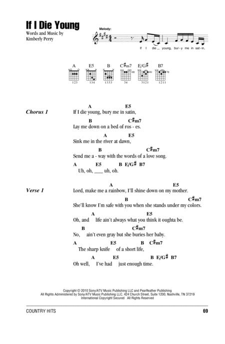 Download Digital Sheet Music of The Band Perry for Lyrics and Chords
