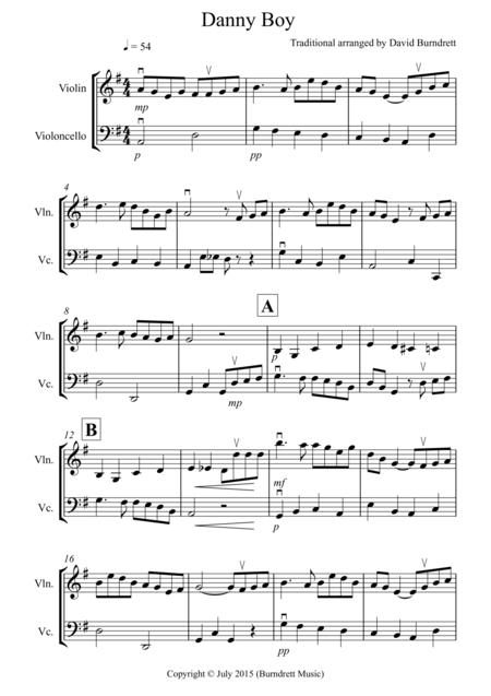 Download Digital Sheet Music of Dido for Violin, Cello (duet)