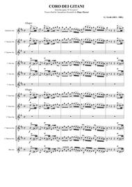 """""""Anvil Chorus"""" from the opera """"Il Trovatore"""" for Saxophone Ensemble sheet music"""