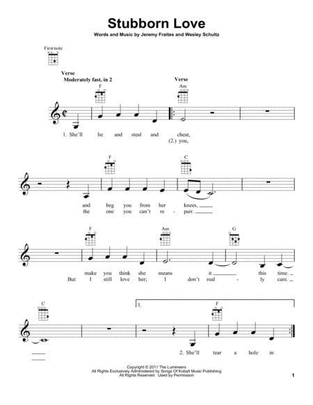 Buy The Lumineers Sheet music, Tablature books, scores