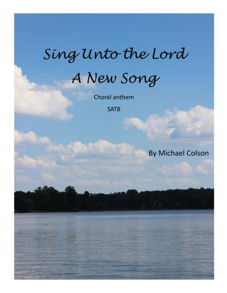 sing unto the lord a new song chords pdf