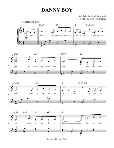 Download Digital Sheet Music of danny boy for Piano, Vocal
