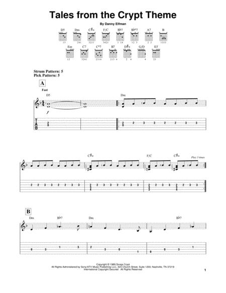 3 pages published by hal leonard digital sheet music hx314105 easy guitar tab filmtv halloween hal leonard digital sheet music