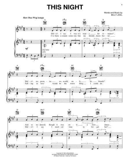 Billy Joel and David Rosenthal sheet music to download and print ...