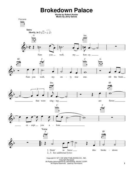 Download Digital Sheet Music of Grateful Dead for Ukulele