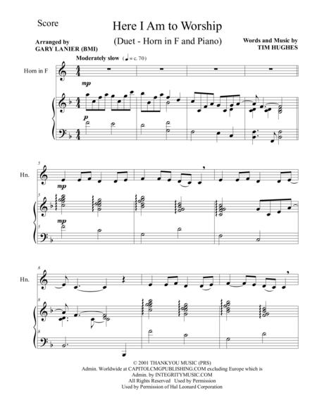 image relating to Free Printable Black Gospel Sheet Music identified as Down load Electronic Sheet New music for French Horn and Piano