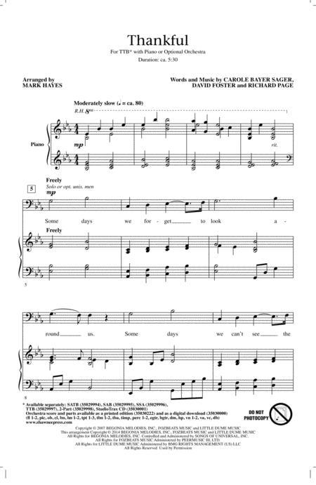 Download Digital Sheet Music Of Josh Groban For Choral