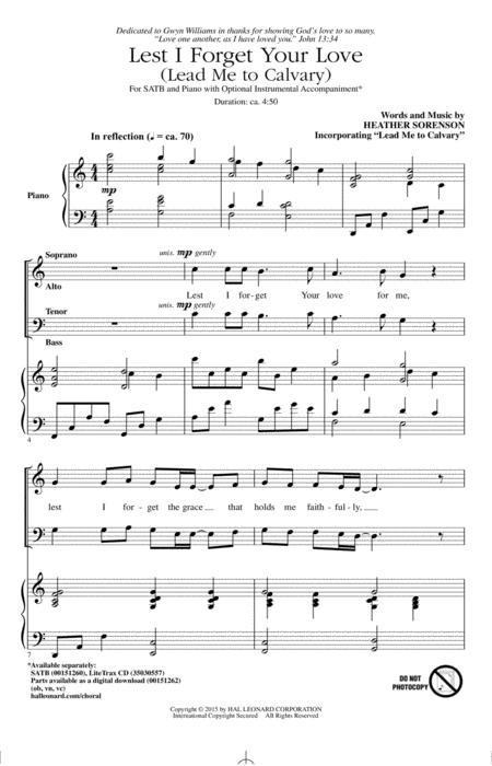 Download Digital Sheet Music of He Leadeth Me for Choral