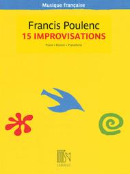 Francis Poulenc  Sheet Music 15 Improvisations - Musique francaise series Song Lyrics Guitar Tabs Piano Music Notes Songbook