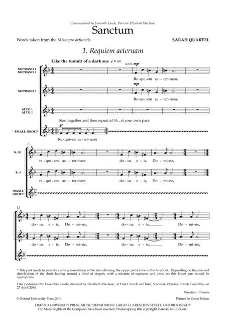 Sanctum sheet music
