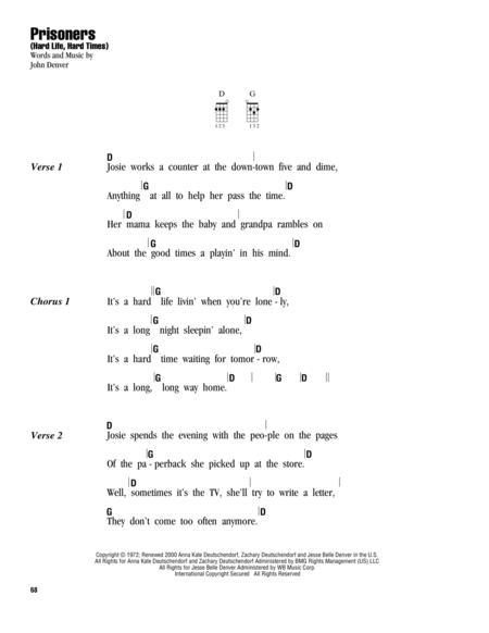 Download Digital Sheet Music Of John Denver For Ukulele