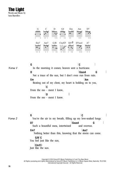 Download Digital Sheet Music of Sara-Bareilles for Lyrics and Chords