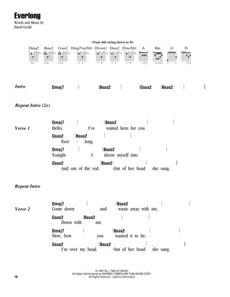 Foo Fighters sheet music to download and print - World center of ...