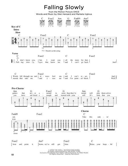 Glen Hansard sheet music to download and print - World center of ...