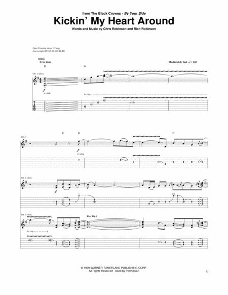 The Black Crowes Sheet Music To Download And Print World Center Of