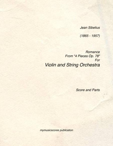 Jean Sibelius Violin Sheet Music Books Scores Buy Online