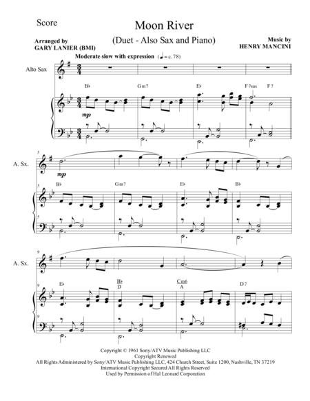 photograph regarding Free Printable Alto Saxophone Sheet Music titled Down load Electronic Sheet Tunes for Alto Saxophone and Piano