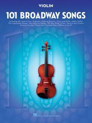 Various  Sheet Music 101 Broadway Songs for Violin Song Lyrics Guitar Tabs Piano Music Notes Songbook