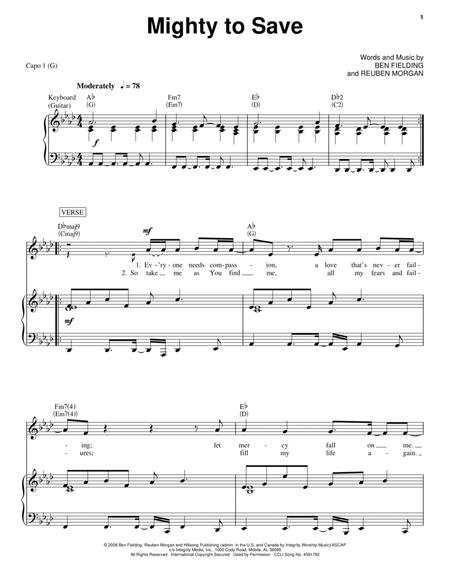 Download Digital Sheet Music of ben fielding for Piano, Vocal and Guitar