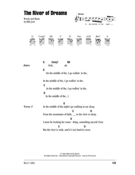 river dreams sheet music to download and print - World center of ...