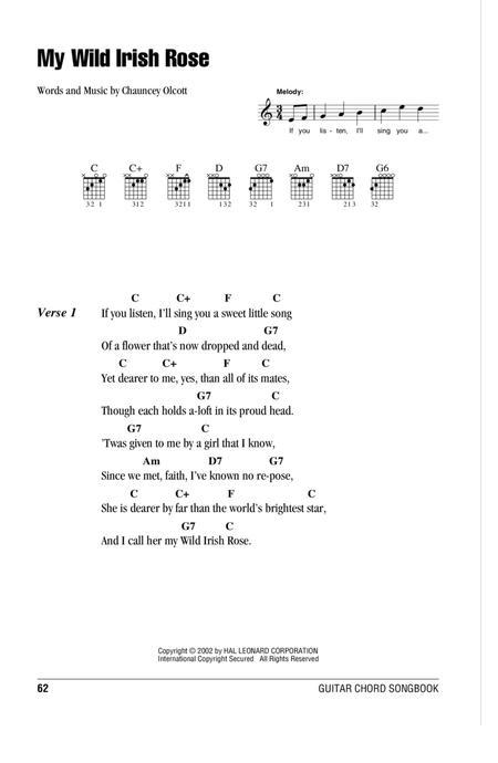 My Wild Irish Rose Partitions Musicales Imprimer Mondial De La