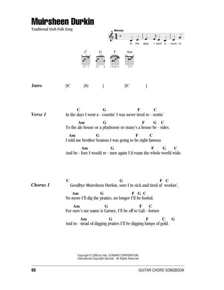 Irish Folk Song sheet music to download and print - World center of ...