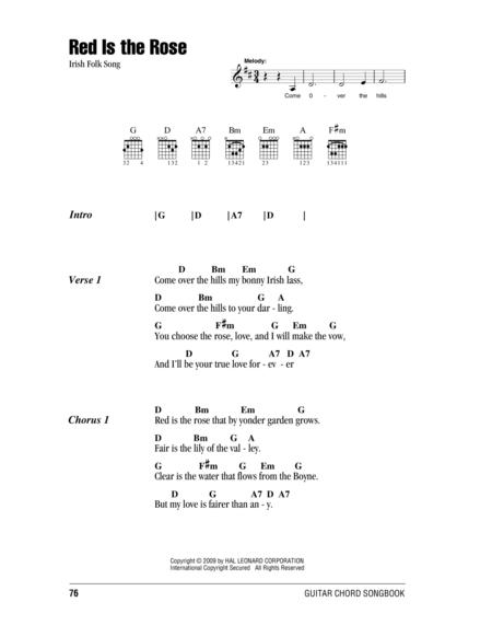 Red Is The Rose Sheet Music To Download And Print World Center Of
