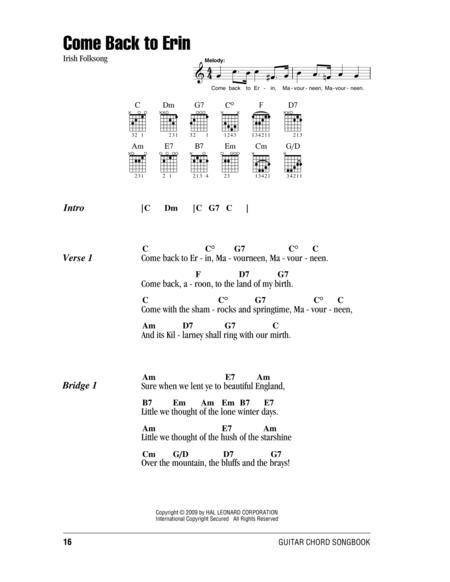 Irish Folk Song Sheet Music To Download And Print World Center Of