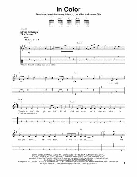 Download Jamey Johnson Digital Sheet Music and Tabs