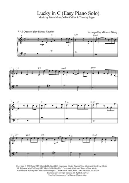Jason Mraz Sheet Music To Download And Print World Center Of