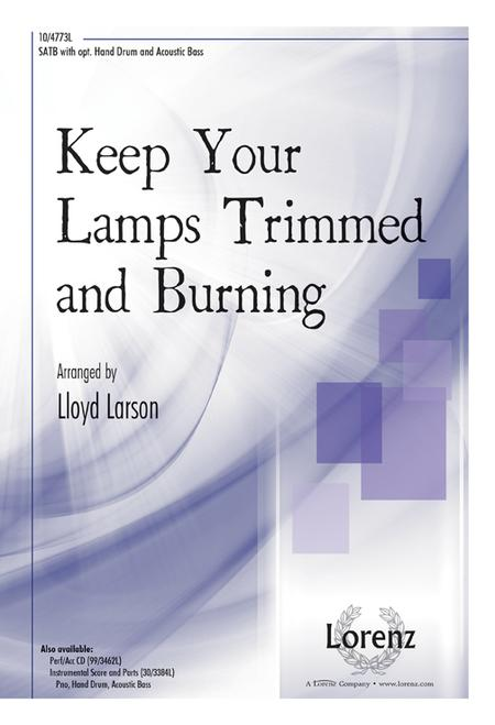 Sheet Music Keep Your Lamps Trimmed And Burning Satb Piano