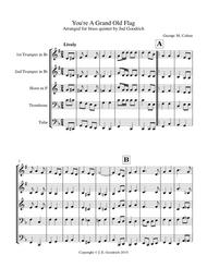"""""""You're A Grand Old Flag"""" for brass quintet sheet music"""
