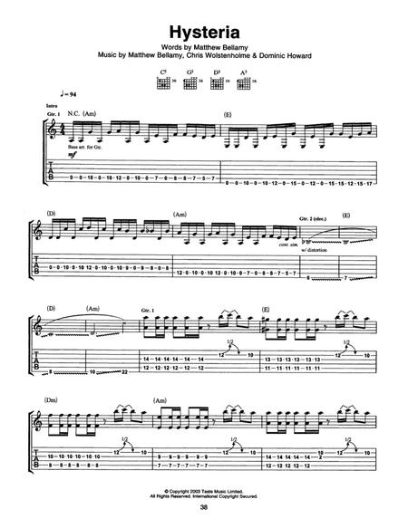 Mass Hysteria Sheet Music To Download And Print World Center Of