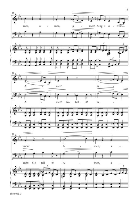 Amen! Tell It on the Mountain! sheet music