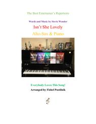 """Isn't She Lovely"" for Alto-Sax & Piano sheet music"