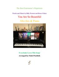 """""""You Are So Beautiful"""" for Alto-Sax and Piano sheet music"""
