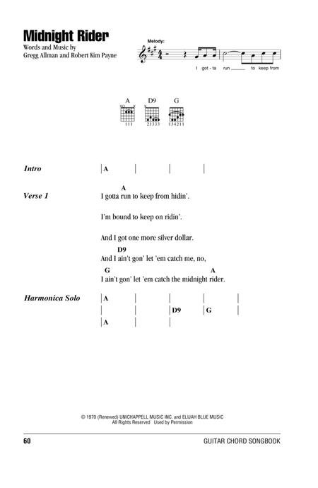 The Allman Brothers Band sheet music to download and print - World ...