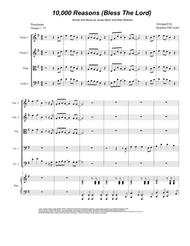 Matt Redman  Sheet Music 10,000 Reasons (Bless The Lord) (for String Quintet) Song Lyrics Guitar Tabs Piano Music Notes Songbook