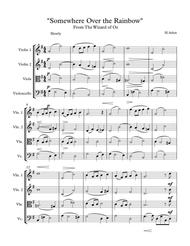 """""""Over the Rainbow"""" From The Wizard of Oz (String Quartet) sheet music"""