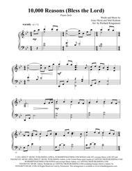 Matt Redman  Sheet Music 10,000 Reasons (Bless the Lord) Song Lyrics Guitar Tabs Piano Music Notes Songbook