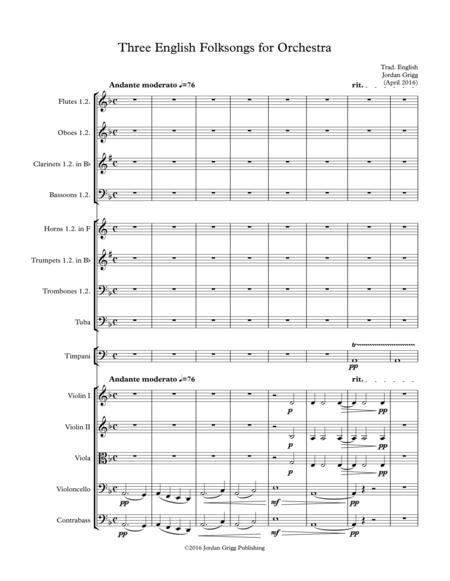 English Folk Song Sheet Music To Download And Print