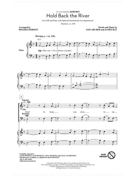 Let It Go James Bay Piano Sheet Music Free Pdf - Piano Ideas