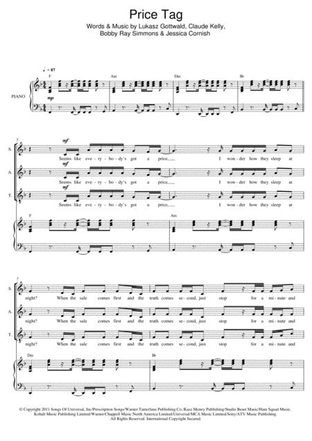 Download Digital Sheet Music of Jessie J for Piano, Vocal and Guitar