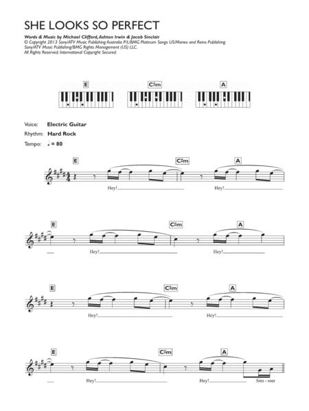Download Digital Sheet Music Of 5 Seconds Of Summer For Piano Solo