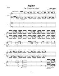 """Jupiter"" arranged for 2 pianos 8 hands sheet music"