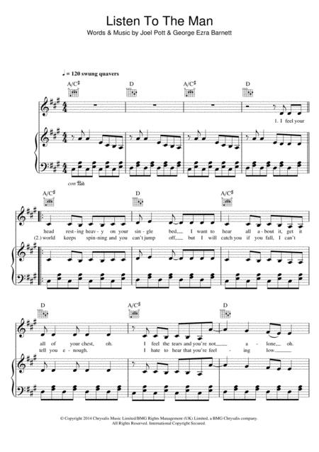 Buy George Ezra Sheet music, Tablature books, scores