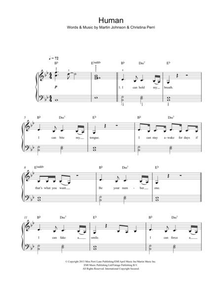Christina Perri Sheet Music To Download And Print World Center Of