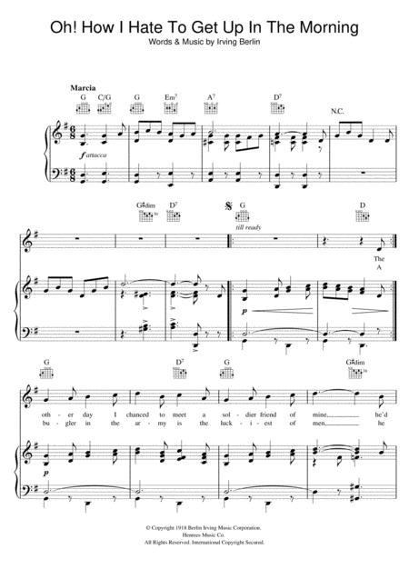 Irving Berlin sheet music to download and print - World