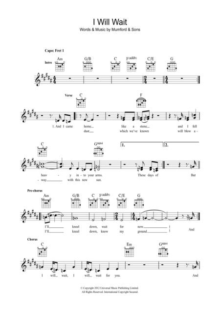 Buy Mumford & Sons Sheet music, Tablature books, scores