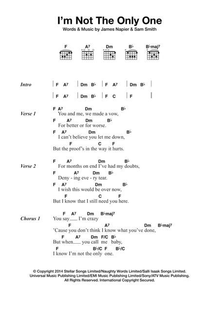 Download Digital Sheet Music Of Sam Smith For Lyrics And Chords
